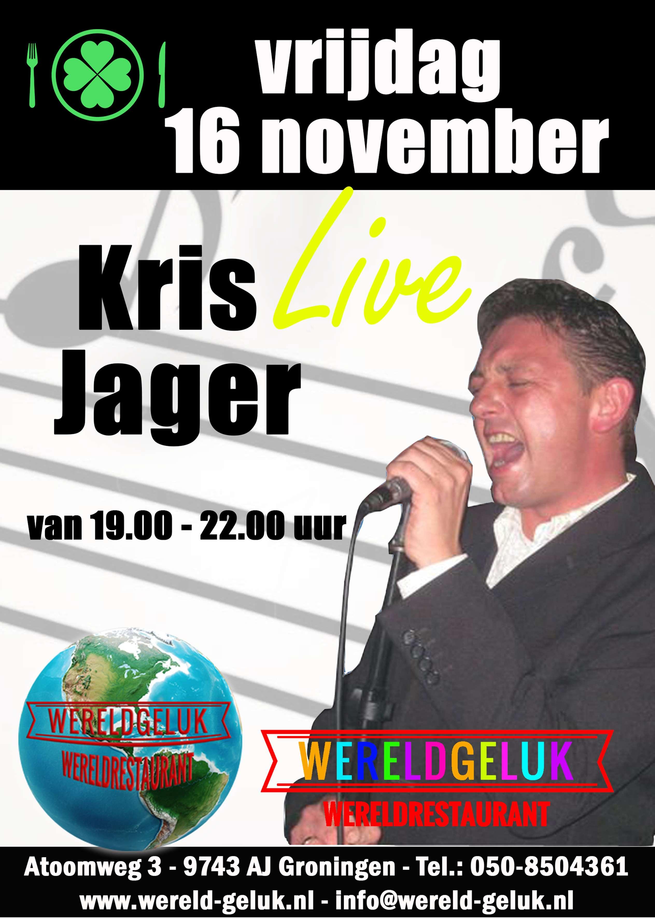 wereldgeluk poster Kris jager live